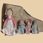 Fabulous Late 19th C Woman in the Shoe Cloth Dolls