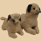 Pair of Late 19th C Pups
