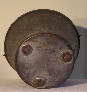 19th C Pennsylvania Footed Tin Milk Pail