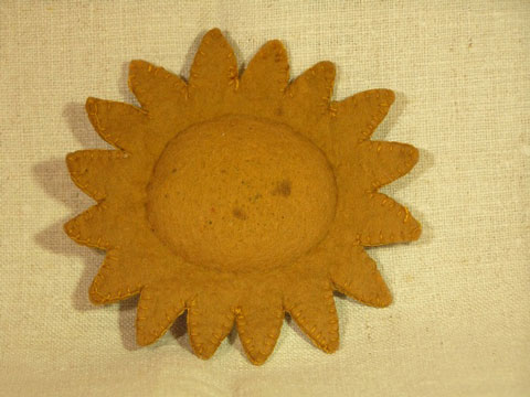 Old Sunflower Pin Disc