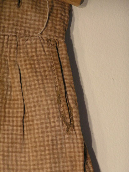 1850's Boy's Brown Checked Breeches