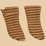 Pair Late 19th C Child's Striped Socks