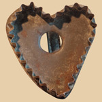 19th C Pennsylvania Heart Cookie Cutter