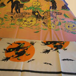 Two Old Halloween Paper Tablecloths