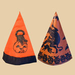 Two Old Halloween Paper Hats